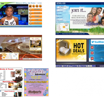 Horizontal or Digital Signage Layouts